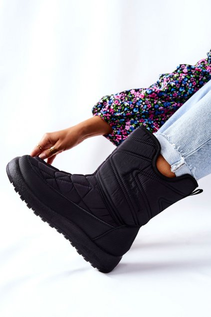 Dámske snehule farba čierna kód obuvi 21SN26-4276 BLK