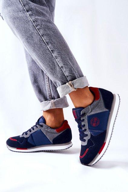 Dámske tenisky farba sivá kód obuvi GG274A055 NAVY/RED