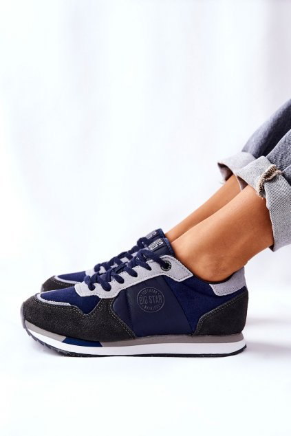 Dámske tenisky farba sivá kód obuvi GG274A056 NAVY/GREY