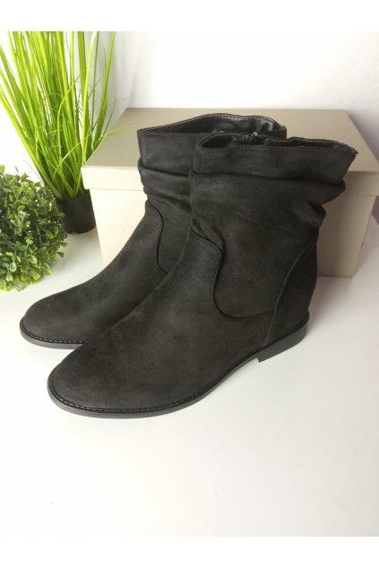 Čierne topánky NJSK 2C8AX7680-1