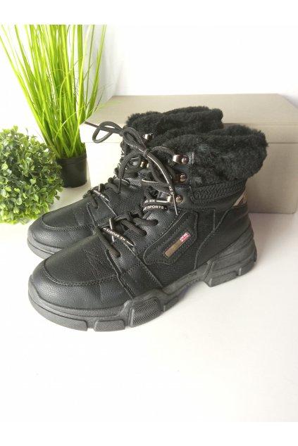 Čierne topánky NJSK S312-15B