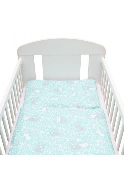 2-dielne posteľné obliečky New Baby 90/120 cm Králičky mätové