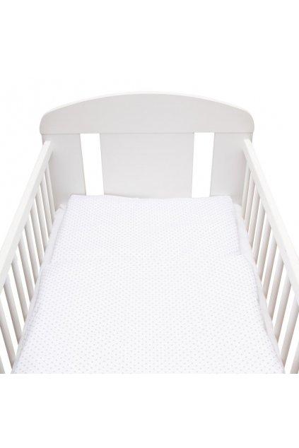 2-dielne posteľné obliečky New Baby 90/120 cm Minka a Bodky sivé