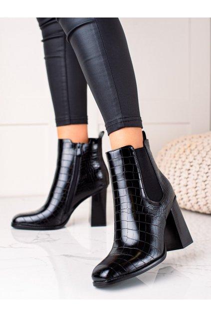 Čierne dámske topánky Bestelle kod HB-45B/B