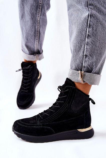 Dámske tenisky farba čierna kód obuvi 21-15003BKG