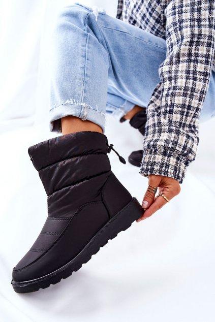 Dámske snehule farba čierna kód obuvi 22-34518 BK