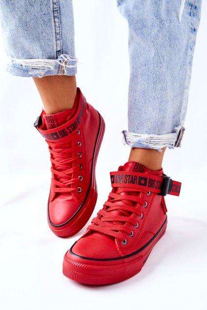 Dámske tenisky farba červená kód obuvi GG274028 RED