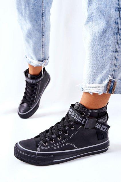 Dámske tenisky farba čierna kód obuvi GG274026 BLK