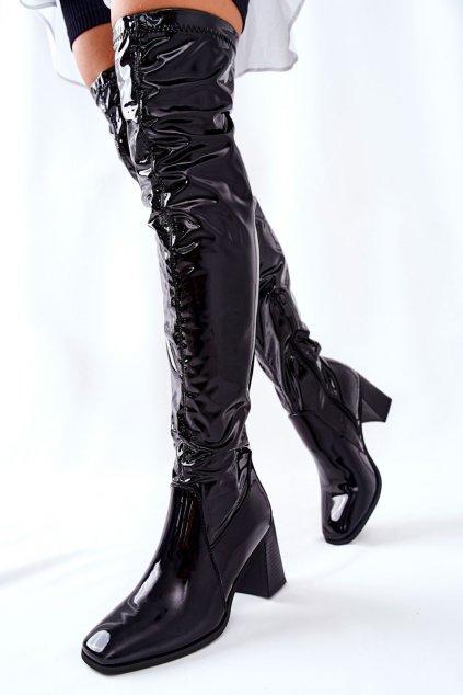 Dámske čižmy farba čierna kód obuvi RB67 BLK