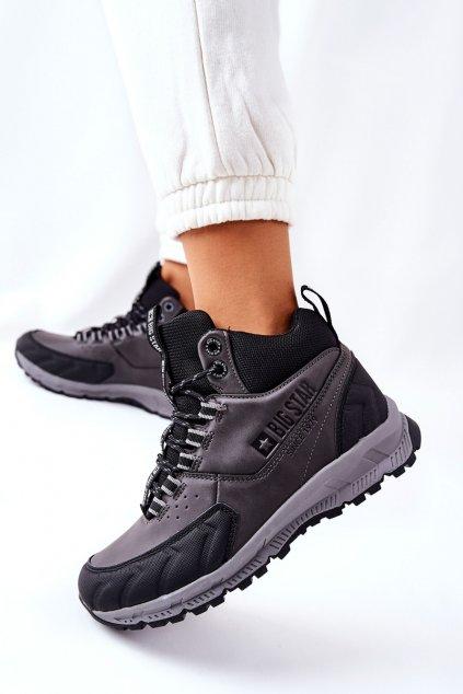 Dámske trekové topánky farba čierna kód obuvi II274454 BLK