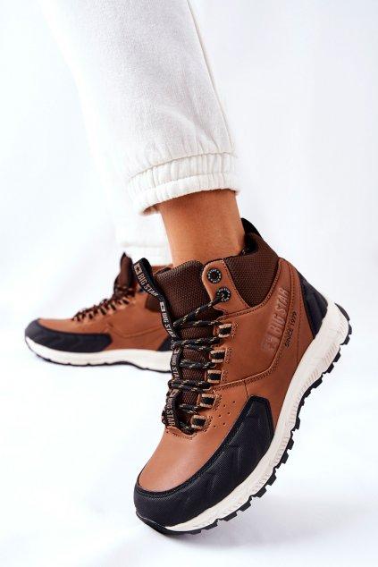 Dámske trekové topánky farba čierna kód obuvi II274453 BROWN