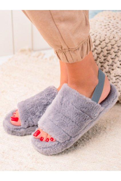 Sivé dámske topánky na doma Trendi kod N-91G