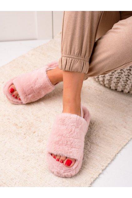Ružové dámske topánky na doma Trendi kod N-91P