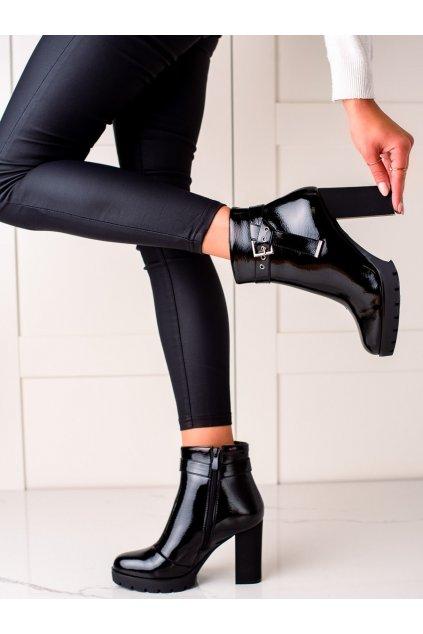 Čierne dámske topánky Janessa kod DF3696B
