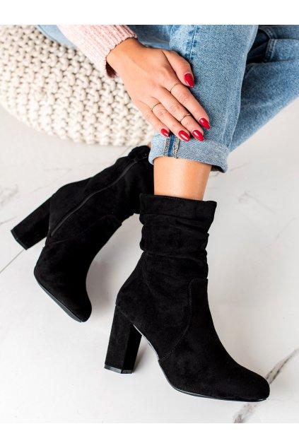 Čierne dámske topánky Trendi kod E2133B