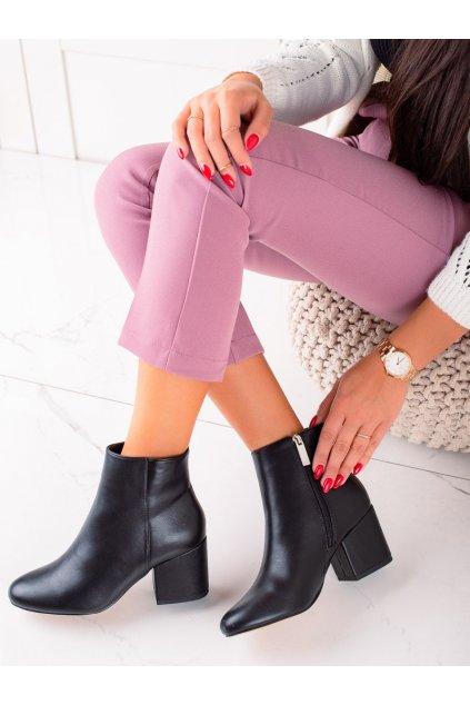 Čierne dámske topánky Renda kod 9K6049-1B