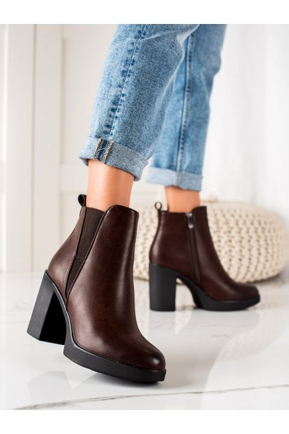 Hnedé dámske topánky Super mode kod 6917BR