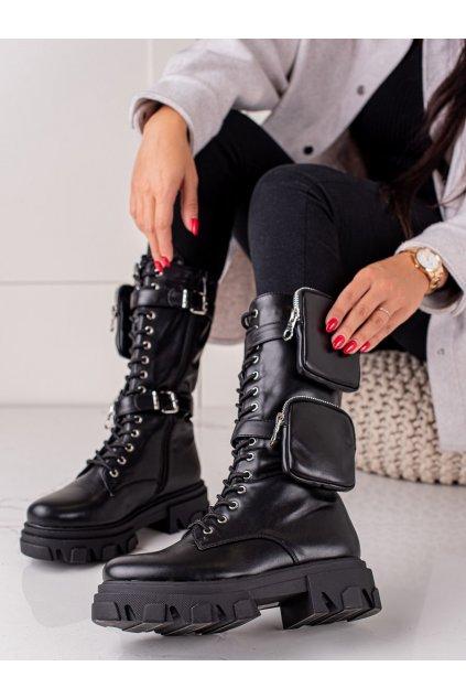 Čierne dámske topánky Bestelle kod 168-292B