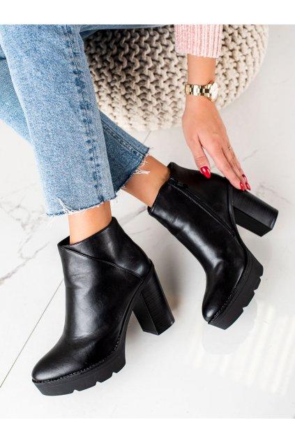 Čierne dámske topánky Janessa kod KL710B