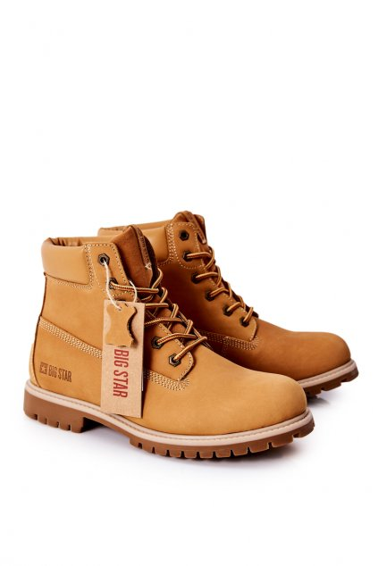 Pánske topánky na zimu farba hnedá kód obuvi II174264 CAMEL