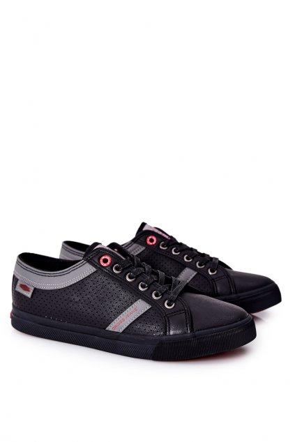 Čierna obuv kód topánok II1R4004C BLK