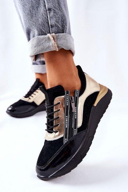 Dámske tenisky farba čierna kód obuvi 21-15001BG