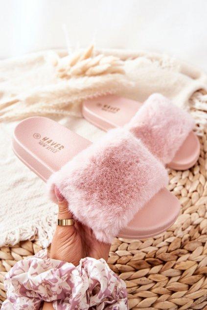 Dámske šľapky farba ružová kód obuvi HN52-3 PINK