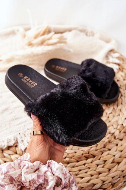 Dámske šľapky farba čierna kód obuvi HN52-4 BLACK