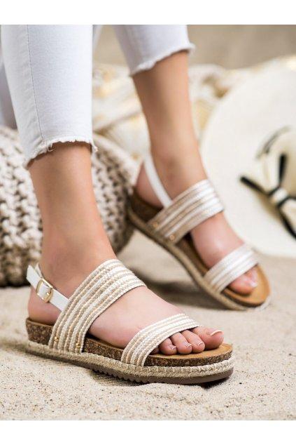 Biele dámske sandále Trendi kod FD-50W