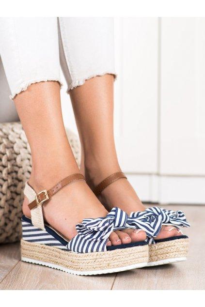 Fialové dámske sandále Sweet shoes kod DZ8009BL