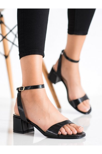 Čierne dámske sandále Trendi kod F9027B