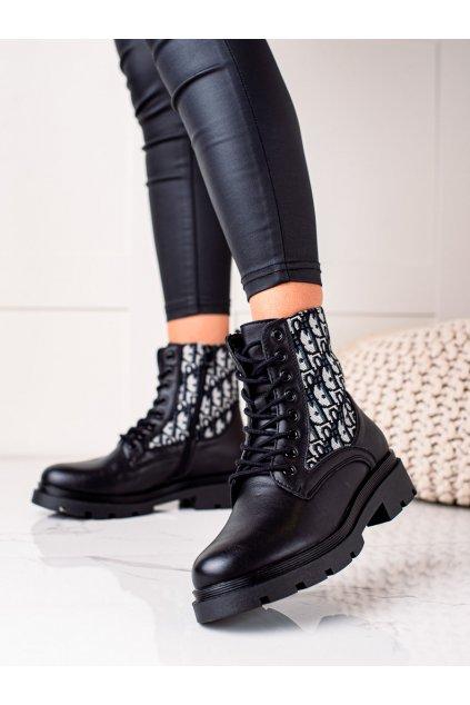 Čierne dámske topánky Goodin kod HF239B