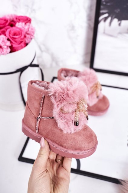 Detské snehule farba ružová NJSK 602-1C PINK