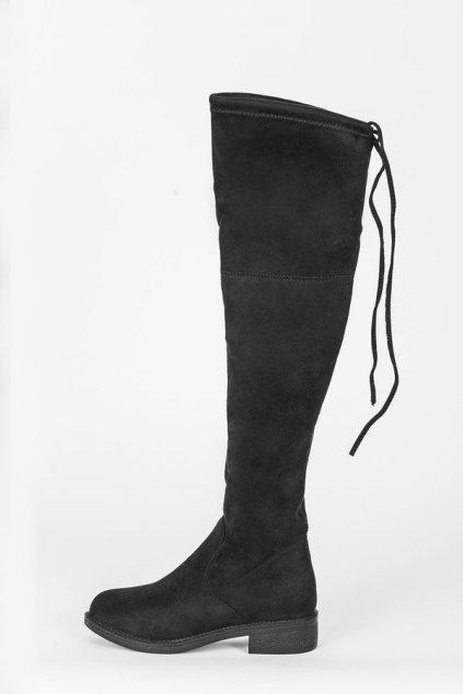 Dámske topánky čižmy čierne NJSK PE238