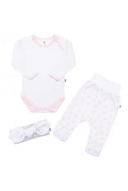 3-dielna bavlnená dojčenská súprava New Baby Lili