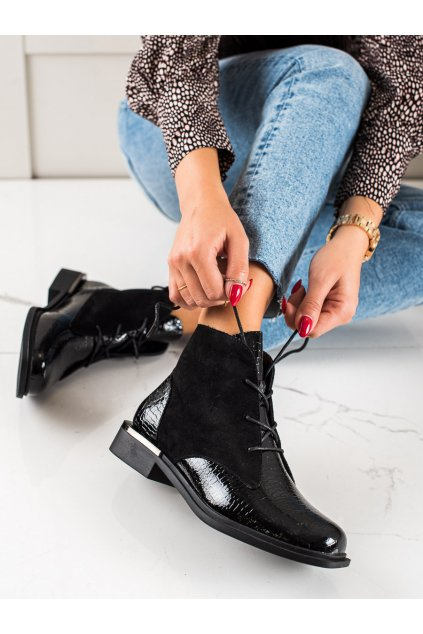 Čierne dámske topánky Sergio leone kod BT401B