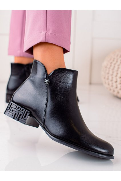 Čierne dámske topánky Sergio leone kod BT540B