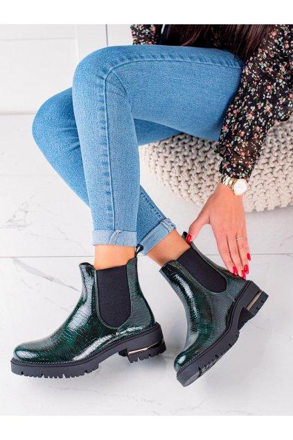 Zelené dámske topánky Sergio leone kod TR746GR