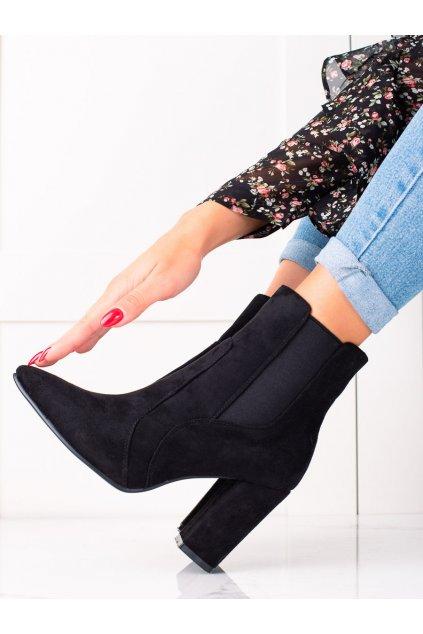 Čierne dámske topánky Marquiz kod TX-1847B