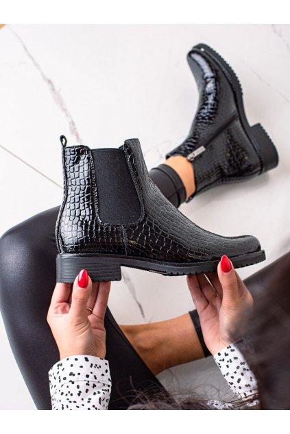 Čierne dámske topánky Vinceza kod XY22-10666B/B