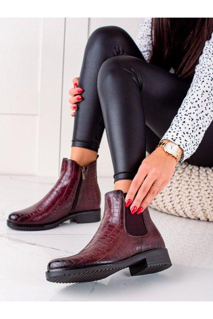 Červené dámske topánky Vinceza kod XY22-10666BOR