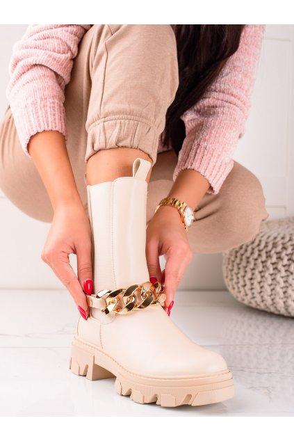 Hnedé dámske topánky Sweet shoes kod D7788BE