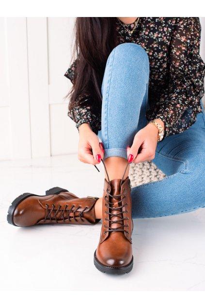 Hnedé dámske topánky W. potocki kod 21-12003BR