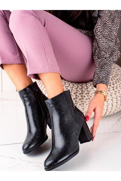 Čierne dámske topánky Trendi kod G119G