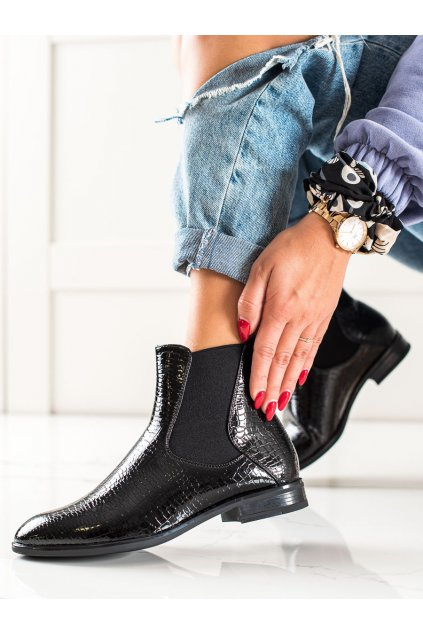 Čierne dámske topánky Sergio leone kod BT523B