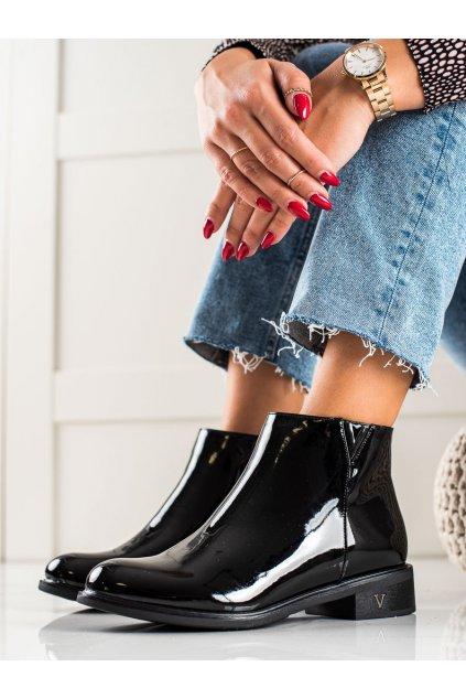 Čierne dámske topánky Vinceza kod HX22-16230B