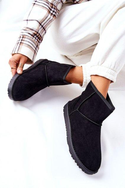 Dámske snehule farba čierna kód obuvi 9BT26-1470 BLK