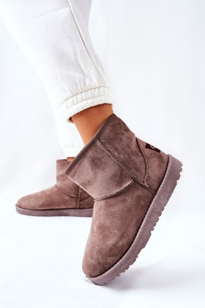Dámske snehule farba hnedá kód obuvi 9BT26-1470 BROWN