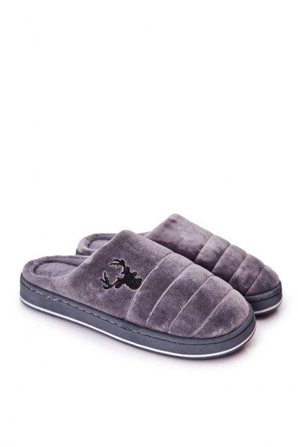 Pánske šľapky farba sivá kód obuvi KP18A-3