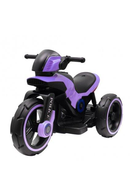 Detská elektrická motorka Baby Mix POLICE fialová